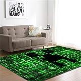 CHAOSE Leichte Weiche Polyester-Baumwolle Bedruckte Fläche Teppich Bodenmatte 3D Tier, Karikatur Für Wohnzimmer und Schlafzimmer (Grünes Digital, 63 x 48 in(160 x 121.9 cm))