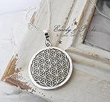 KettenAnhänger Blume des Lebens mit Collierschlaufe Lebensblume Esotherik Meditation