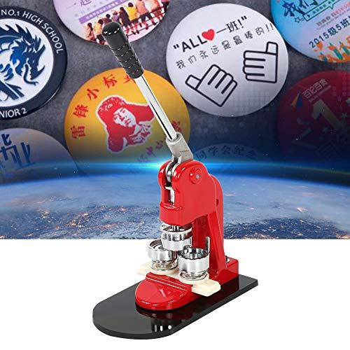 58 mm Ausweismaschine, Button Maker Micro Button-Maschine mit 1000 Teilen, Button Button Button Button Maker Punch Press Machine mit rundem Cutter und Ausstecher (Abzeichen Button Maker Maschine)