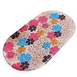 YiLianDa Anti-Rutsch-Aufkleber Badewanne Matte Kiesel PVC-Massage-Bad-Matten-Auflage Badezimmermatte mit Saugnäpfen Blume