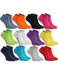 6, 9 ou 12 paires de chaussettes courtes de 12 couleurs faites dans l'UE, le coton de haute qualité certifié Oeko-Tex, plusieurs tailles: 36, 37, 38, 39, 40, 41, 42, 43, 44, 45, 46 by Rainbow Socks