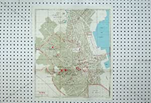 Plan 1967 de Rue de Tunis Tunisie de Carte de Bleus Montfleury