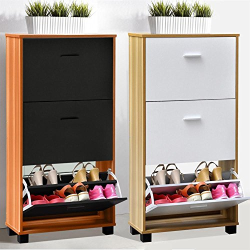 tinxs-3-drawer-natural-wooden-shoe-cabinet-storage-organiser-home-office-new