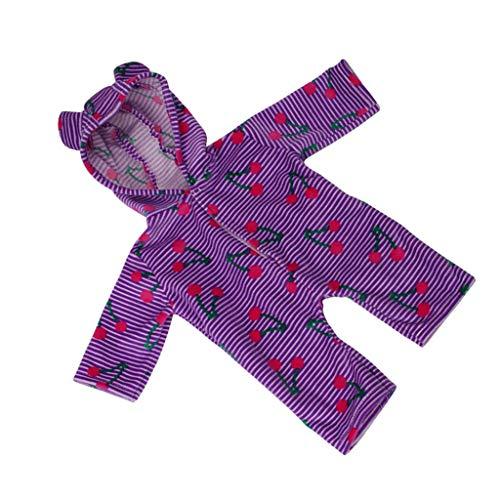 P Prettyia Netter Puppe Kleidung Strampler Spielanzug Pyjama Nachthemd für 18 Zoll Amerikanisches Mädchen Puppen - # 1 (Und Mädchen Nachthemd Puppe)