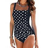 Momoxi Costume da Bagno, Stampa Floreale delle Donne per Costumi da Bagno di Due Pezzi Intero da Spiaggia Intero da Bagno Bikini Imbottito Push-Up Monokini-Bikini Mare Calzedonia Costumi Interi
