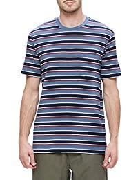 T-SHIRT OBEY HARBOR POCKET TEE BLEU