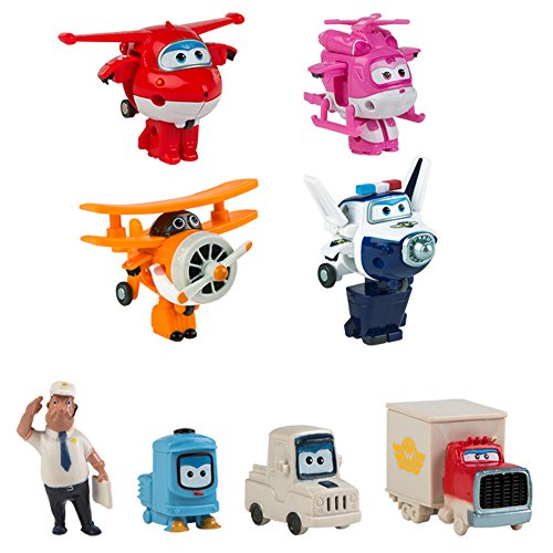 Super Wings - Pack colección 4 Super Wings transformables + 4 personajes extra (ColorBaby 43963)