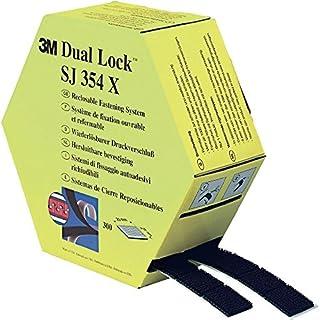 3M SJ354X Dual Lock in einer Spendebox, 2 x 5 m, 300 Stück vorgestanzt, schwarz 1-er Pack