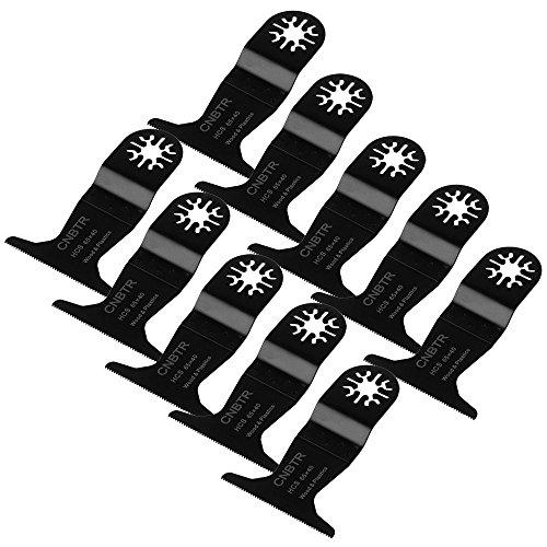 cnbtr schwarz 65x 40mm Carbon Stahl Sägeblätter Pendelndes Multitool fineteeth Universal Sägeblätter Set von 10