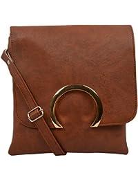 Trendz Sling Bags for Girls (Brown, 579)
