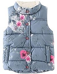 XXYsm Kinder Mantel Westen Winter Warm Jacke Herbst Outwear Coat Winterjacke Baby Mädchen