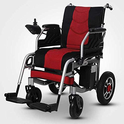 Motorisierte Roller (J.GH Tragbarer zusammenklappbarer Hochleistungsrollstuhl für Elektromobilität, Leichter Elektrorollstuhl, motorisierte 360   ° Joystick-Rollstühle, Roller)
