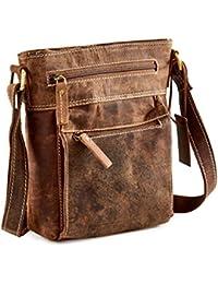 6bbac58ed0db Distressed Leather Travel Cross-Body Bag - iPad mini tablet A5 UM63
