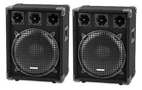 Paar McGrey DJ-1222 DJ PA Lautsprecher Box 30cm (12