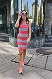Bodycon Sommerkleid in Koralle und grau, kein Ärmel Kleid, Baumwolle elastisches Kleid, legeres Kleid, knielangen Kleid für Frauen, Größe S