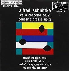 Alfred Schnittke: Concerto No. 2 For Cello & Orchestra Concerto Grosso No. 2 For Violin, Cello & Orchestra (Schnittke-edition - Vol. 15)