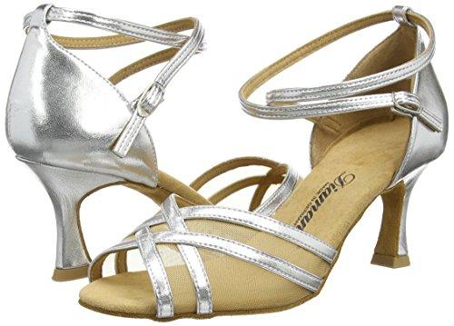 Diamant Diamant Latein 035-087-013 Damen Tanzschuhe – Standard & Latein, Damen Tanzschuhe – Standard & Latein, Silber (Silber), 39 1/3 EU (6 Damen UK) - 5