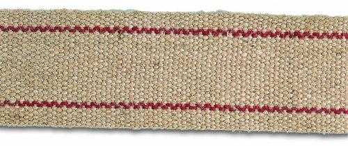 Chapuis FGJ1Juteband, Breite 60mm Länge 5m Creme mit roten Streifen (Kimono Creme)