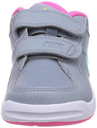 Nike Pico 4 Psv, Chaussures de tennis fille Gris (Mgnt Grey/Vlt/Hypr Pnk/Hypr Jd 009)