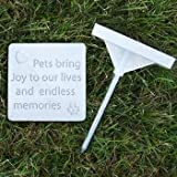 "Pet RAM, pietre, lapide commemorativa ""Pets Bring Joy to our lives e Endless Memories"", Small"