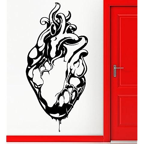 Adesivi da Parete in Vinile a forma di cuore romantico Cool Love gotico Decor per camera (z2297i)