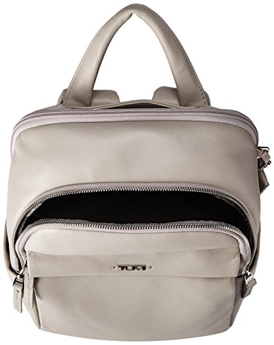 Tumi Voyageur, Daniella Small Leather Backpack, 12 Laptop computer, Gray, 017002Gy Image 4