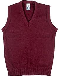 Schuluniform V Ausschnitt Tank Top ärmelloser Pullover nur einheitliche UK