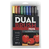 #7: Tombow Dual Brush Pen Set, 10-Pack, Primary Colors (56167)