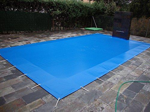 Winter Pool Abdeckung milchig für Pools 5x 3Meter PVC-Schutz Überwinterung Abdeckung mit 650gr/m2 5,60x3,60metros
