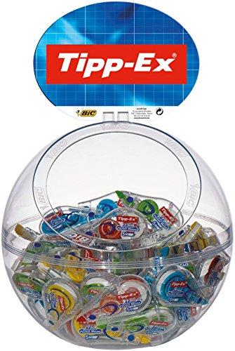 BIC 931860 - Correttore a nastro Tipp-Ex'Mini Pocket Mouse Fashion', 5 mm x 5 m, espositore da 40 pezzi, 4 versioni