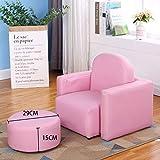 Der Sofakarikaturkarikatur der Kinder nettes Prinzessinbaby-Sofastuhl einzelnes Mädchen Mini-Sofakleinkindjunge lernen, auf einem kleinen Sofa, rosa Ledersofa mit einem Pier zu sitzen