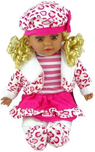 Poupée élégante élégante Poupée à la mode Shannon Collection pour enfants (tenue rose / rouge / blanche à léopard (A)) B072R1F3GS 1899ae