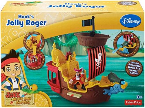 Mattel Fisher-Price Y2265 – Jake und die Nimmerland Piraten Käpt'n Hooks Jolly Roger Piratenschiff - 5
