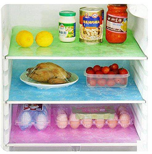 Küche nicht klebend Regal rutschsicher waschbar Kühlschrank Pad rutschfest und Anti Öl Unterschrank Schublade Matten für Home Badezimmer Dekoration leicht zu schneiden Breite 45cm Länge 150cm blau -