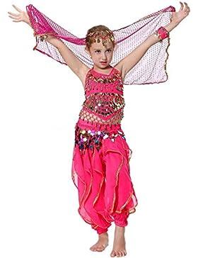 Seawhisper Mädchens Kleid Bauchtanz indianisch Tanzkostüme Halloween Karneval Kostüme Komplet