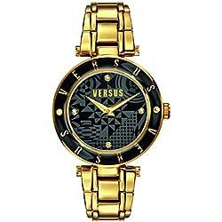 Versus by Versace Damen-Armbanduhr Analog edelstahl Gold SP8110014