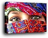 Frauen Poster Kunstdruck als Blockbild - Arabische Augen (120 x 80cm)