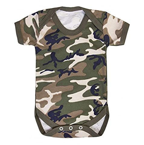Purple Penguin Clothing Baby Grow - Plain (Blank) in 14 fantastic colours - Camo 12-18 Months
