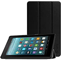 Fintie Slim Case for All-New Amazon Fire 7 Tablet (7th Generation, 2017 Release), Ultra Lightweight Slim Shell Standing Cover with Auto Wake / Sleep, Black preiswert