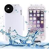 DELANSHI Handy Entwickelt for iPhone 6 / 6s Gehäuse, 40m wasserdichtes Tauchgehäuse PC +...
