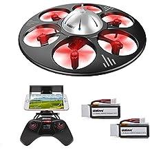 UDI U845 WIFI FPV Drohne mit HD Kamera 6-Kanal UFO 360° Flip Funktion Quadrocopter Drone Kopflosmodus Gravität Induktion