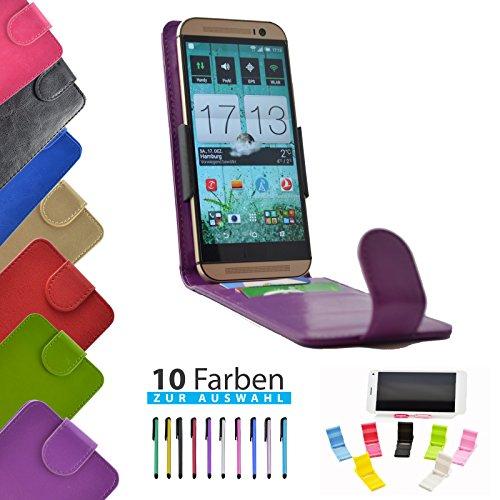 4 in 1 set ikracase Slide Flip Hülle für Haier Phone L50 Tasche Case Cover Schutzhülle Smartphone Etui in Violett