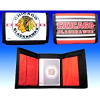 *SALE* CHICAGO BLACKHAWKS NHL Team Logo Licensed Nylon Trifold Wallet *SALE* by NHL