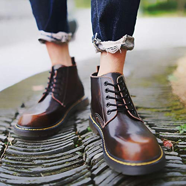 Shukun Stivali Stivali Stivali da uomo Martin stivali Men's Low-Cut Retro Tooling stivali, High stivali, Wild High-Top scarpe, Winter... | Moda  8f9d86