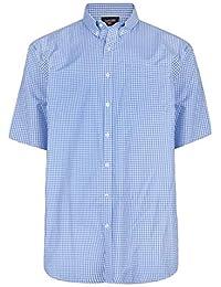 ae69d143fd3c Espionage Mens Classic Short Sleeve Gingham Check Button Down Collar Shirt  (267)