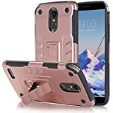 Codream LG Stylo 3 / LG Stylus 3 PC+TPU Case, Back Shell Soft Cellphone Case Protective Durable Shockproof Case Compatible With LG Stylo 3 / LG Stylus 3 PC+TPU - Rose Gold