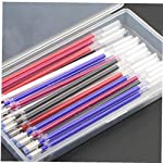 Angoter 40pcs Heat Erasable Pen High Temperature Disappearing Fabric Marker Refills with Storage Box Fabric Craft Tailoring Accessories Black with Box