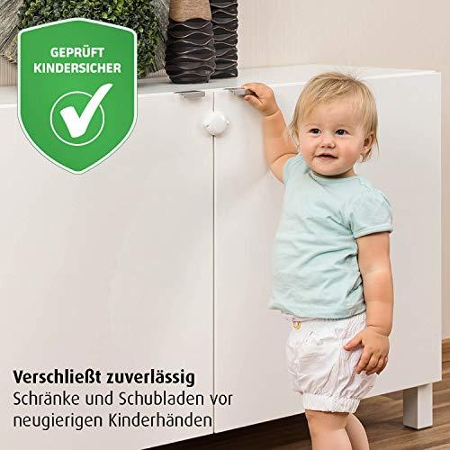 reer Schrank-Schloss für Doppeltüren, vom schwäbischen Kindersicherheitsexperten, weiß -