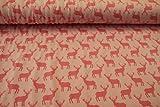 Jersey Hirsche rosa, pink