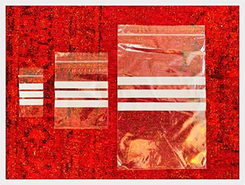 Top Product 4 U – Confezione da 1000 Sacchetti – 3,8 x 6,3 cm (3,8 x 6,3 cm) Multiuso scrivibile su Pannello/Striscia sigillante Riutilizzabile Forte plastica Trasparente Sacchetti di polietilene.